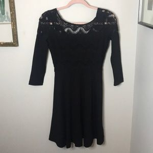 Lilly Pulitzer LBD Lace A Line Black Dress XS